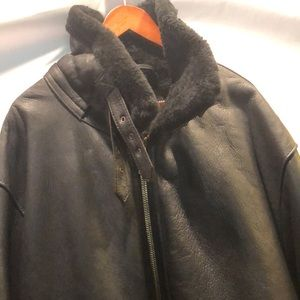New! Men's Aviator Genuine Shearling Jacket